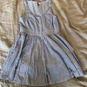 HM striped button front sleeveless dress